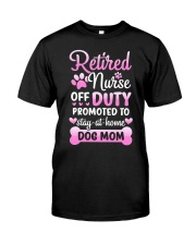 Promoted To Dog Mom Classic T-Shirt front