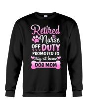 Promoted To Dog Mom Crewneck Sweatshirt tile