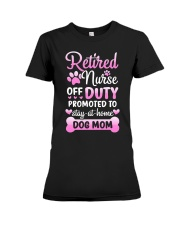 Promoted To Dog Mom Premium Fit Ladies Tee tile