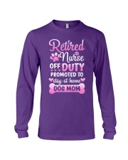 Promoted To Dog Mom Long Sleeve Tee tile