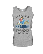 A Day Without Books Unisex Tank tile