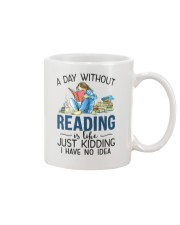 A Day Without Books Mug tile
