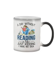 A Day Without Books Color Changing Mug tile