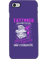 Tattoo Bookworm  Phone Case tile