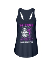 Tattoo Bookworm  Ladies Flowy Tank tile