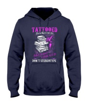Tattoo Bookworm  Hooded Sweatshirt tile