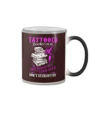 Tattoo Bookworm  Color Changing Mug tile