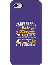 Yes Carpenter Is Working Phone Case tile