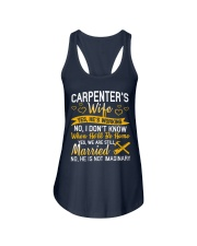 Yes Carpenter Is Working Ladies Flowy Tank tile