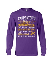Yes Carpenter Is Working Long Sleeve Tee tile