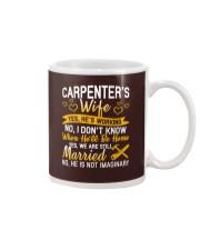 Yes Carpenter Is Working Mug tile