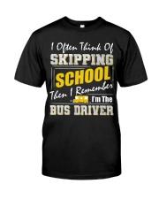 Skipping School Bus Classic T-Shirt tile