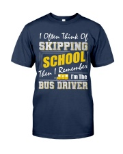 Skipping School Bus Classic T-Shirt front
