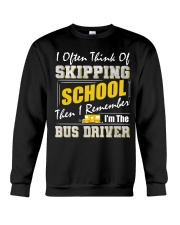 Skipping School Bus Crewneck Sweatshirt tile