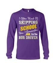 Skipping School Bus Long Sleeve Tee tile
