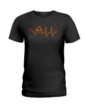 Nurse Halloween Heartbeat Ladies T-Shirt tile