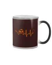 Nurse Halloween Heartbeat Color Changing Mug tile