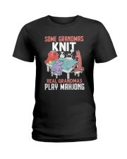Real Grandmas Play Mahjong Ladies T-Shirt tile
