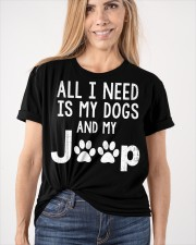 ALL I NEED IS MY DOGS AND J33p Classic T-Shirt apparel-classic-tshirt-lifestyle-front-101