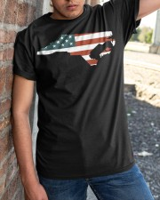 North Carolina Off road flag Classic T-Shirt apparel-classic-tshirt-lifestyle-27
