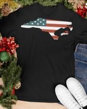 North Carolina Off road flag Classic T-Shirt apparel-classic-tshirt-lifestyle-front-82