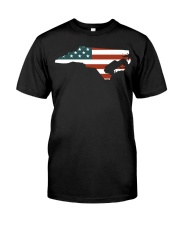 North Carolina Off road flag Classic T-Shirt front