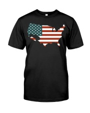 USA Flag Classic T-Shirt front