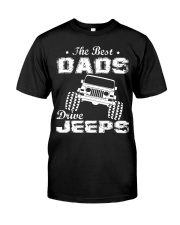 BEST DADS DRIVE J33pS Classic T-Shirt front