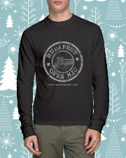 Budapest Open Mic Long Sleeve Tee lifestyle-holiday-longsleeves-front-1