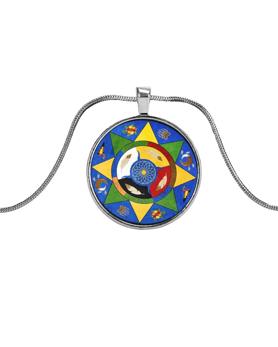 Native Trail Of Tears Necklace Metallic Circle Necklace