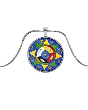Native Trail Of Tears Necklace Metallic Circle Necklace front