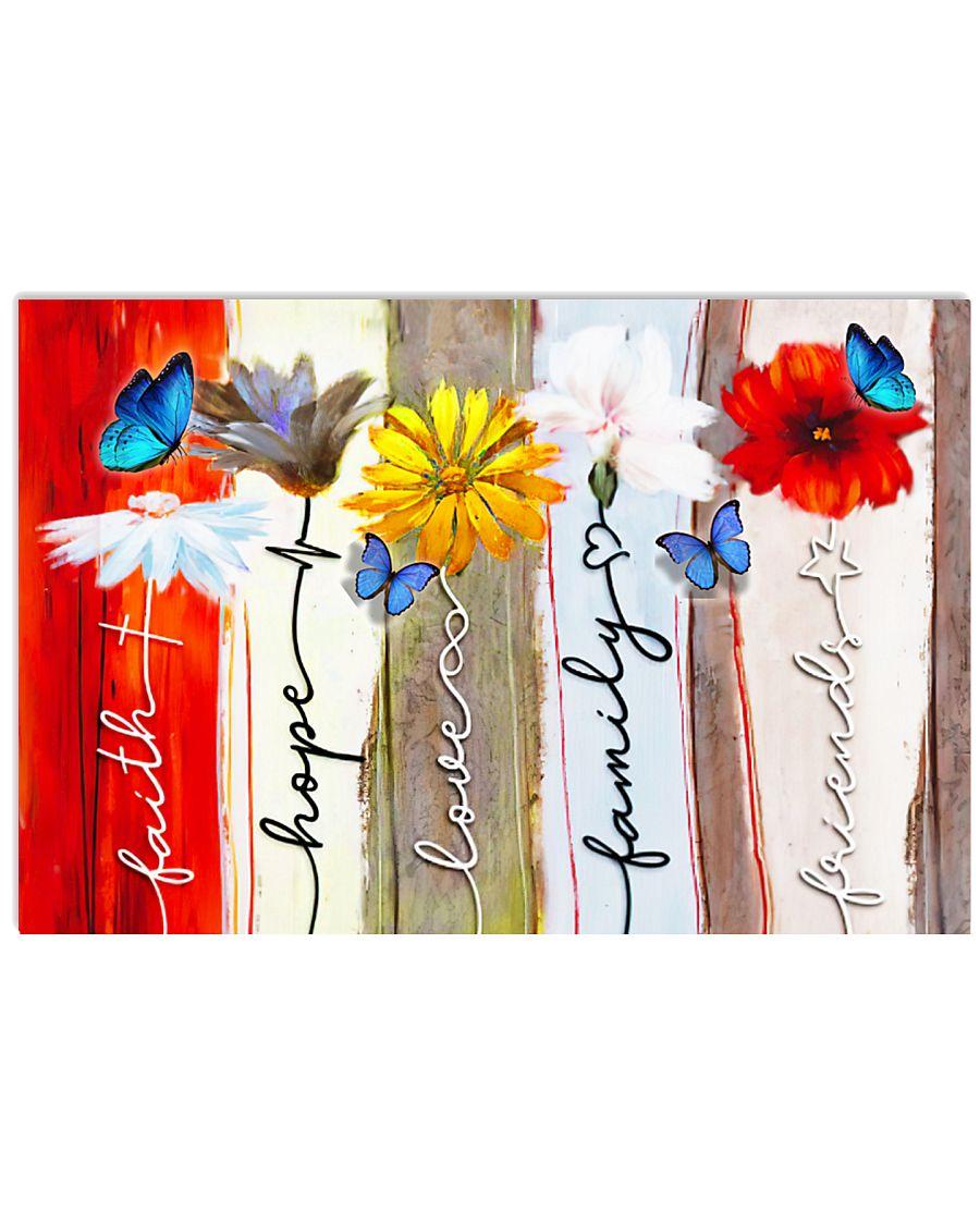 BUTTERFLY FAITH HOPE LOVE  - BEST SELLER 17x11 Poster