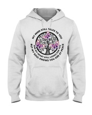 Gem Butterfly My Mind Still Talks Heartbeat - LTE  Hooded Sweatshirt thumbnail