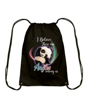 Panda I Believe Angels  Drawstring Bag thumbnail