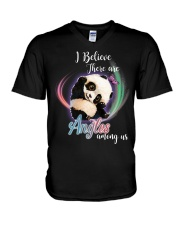 Panda I Believe Angels  V-Neck T-Shirt thumbnail