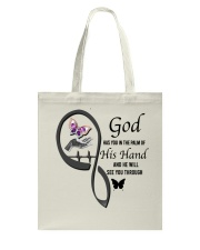 Purple Butterfly  God Has You - LTE Tote Bag thumbnail