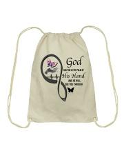 Purple Butterfly  God Has You - LTE Drawstring Bag thumbnail