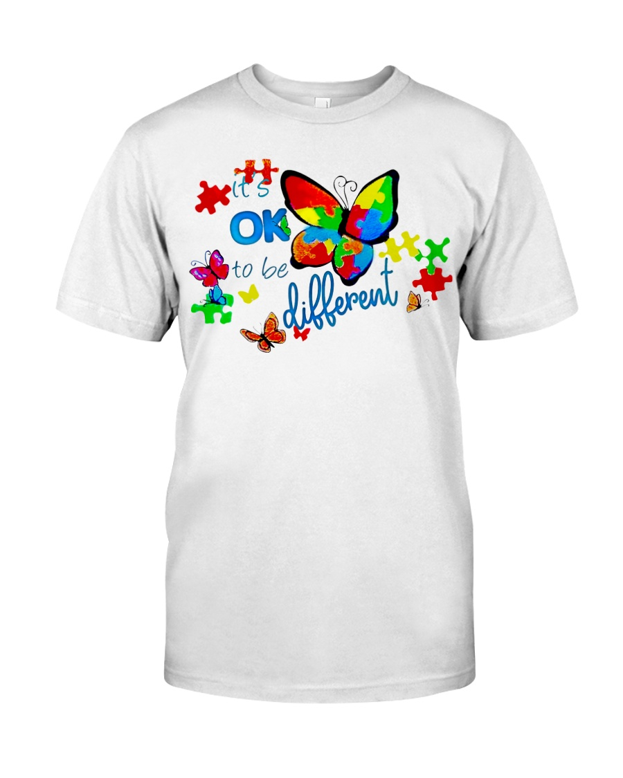 BUTTERFLY IT'S OK TO BE DIFFERENT Classic T-Shirt