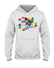 BUTTERFLY IT'S OK TO BE DIFFERENT Hooded Sweatshirt thumbnail