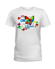 BUTTERFLY IT'S OK TO BE DIFFERENT Ladies T-Shirt thumbnail
