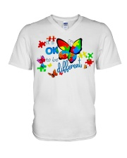 BUTTERFLY IT'S OK TO BE DIFFERENT V-Neck T-Shirt thumbnail