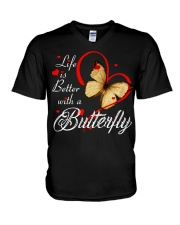 BUTTERFLY LIFE IS BETTER V-Neck T-Shirt thumbnail