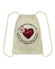 Butterfly Piece of Hear My Mind Still Talks - LTE  Drawstring Bag thumbnail
