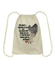 Hummingbirds My Mind Still Talks To You - LTE Drawstring Bag thumbnail