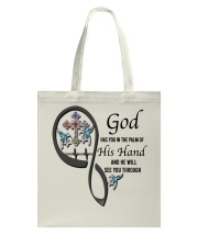Blue Hummingbirds  God Cross Has You - LTE Tote Bag thumbnail