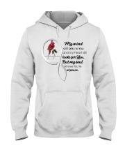Bird My Mind Still Talks Heartbeat - LTE  Hooded Sweatshirt thumbnail