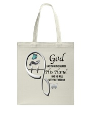 Butterfly On Lady Hand God Has You - LTE Tote Bag thumbnail