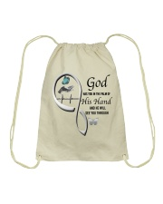 Butterfly On Lady Hand God Has You - LTE Drawstring Bag thumbnail