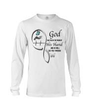Butterfly On Lady Hand God Has You - LTE Long Sleeve Tee thumbnail