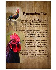Rooster Remember Me - LTE  11x17 Poster front